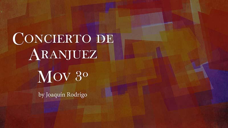 Gallardo Del Rey. Spanish Guitar Academy. Concierto de Aranjuez Mov3