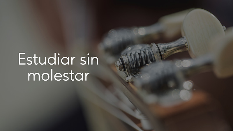 Spanish Guitar Academy. Consejo: Estudiar sin molestar