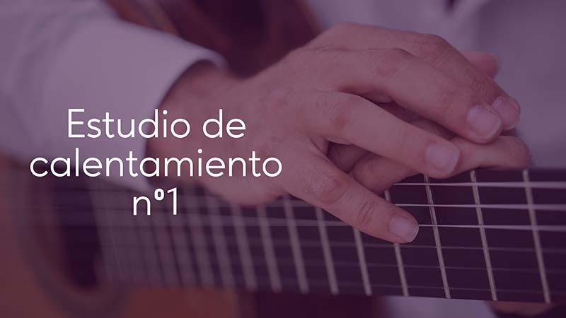 Spanish Guitar Academy. Consejo: Estudio de calentamiento n1.