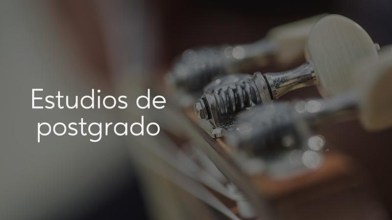 Spanish Guitar Academy. Consejo: Estudios de postgrado