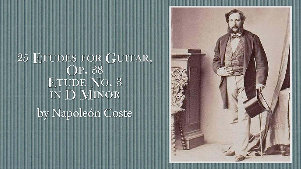 25 Etudes for Guitar, Op. 38 by Napoleon Coste. José María Gallardo Del Rey